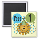 1st Lion Birthday Tshirts and Gifts 2 Inch Square Magnet
