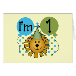 1st Lion Birthday Tshirts and Gifts Card