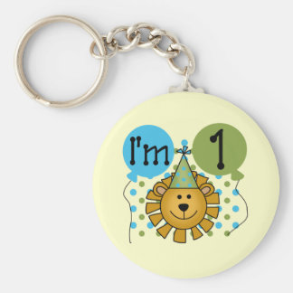 1st Lion Birthday Tshirts and Gifts Keychain