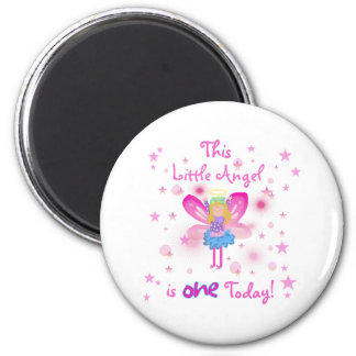 1st Little Angel Birthday Magnet