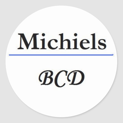 1st logo name sticker