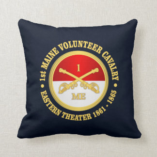1st Maine Cavalry Throw Pillow