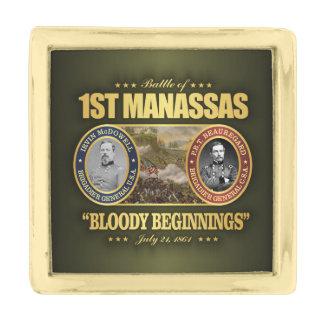 1st Manassas (FH2) Gold Finish Lapel Pin
