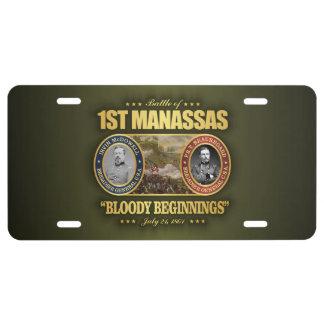 1st Manassas (FH2) License Plate