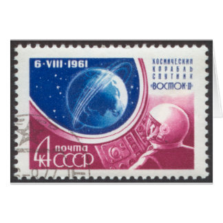 1st Manned Global Space Flight Card