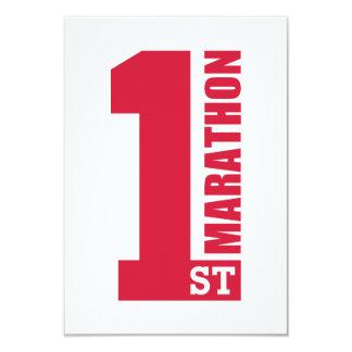 1st Marathon Personalized Invites