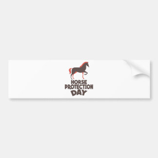 1st March - Horse Protection Day Bumper Sticker