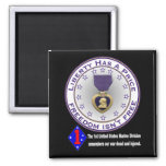1st Marine Div Remembers DARK 2 Inch Square Magnet