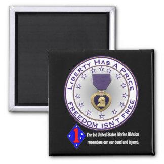 1st Marine Div Remembers DARK Refrigerator Magnets