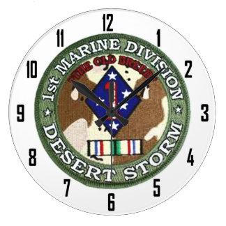 1st MARINE DIVISION DESERT STORM Clock