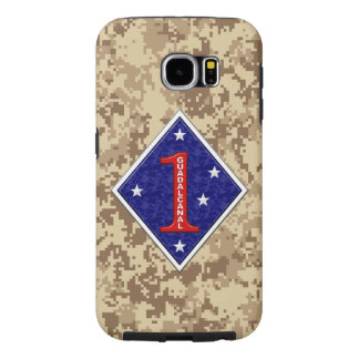 """1st Marine Division """"The Old Breed"""" Marine Camo Samsung Galaxy S6 Cases"""