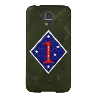 """1st Marine Division """"The Old Breed"""" WW II Camo Galaxy S5 Case"""