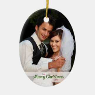 1st Married Christmas Ornament
