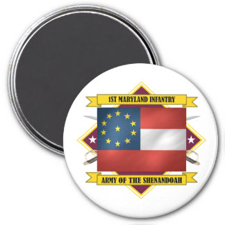 1st Maryland Infantry 3 Inch Round Magnet