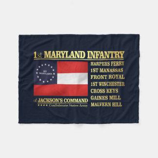 1st Maryland Infantry (BA2) Fleece Blanket