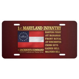 1st Maryland Infantry (BA2) License Plate