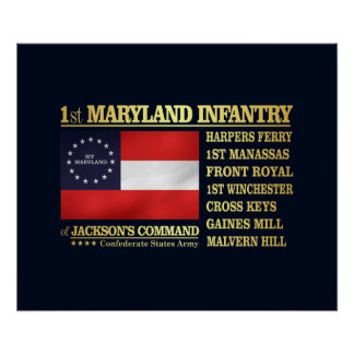 1st Maryland Infantry (BA2) Poster