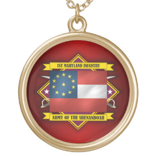1st Maryland Infantry (F5) Gold Plated Necklace
