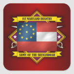 1st Maryland Infantry (F5) Square Sticker