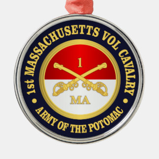 1st Massachusetts Volunteer Cavalry Metal Ornament