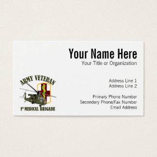 1st Med Bde Vet - UH60 Medivac Business Card