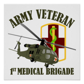 1st Med Bde Vet - UH60 Medivac Print