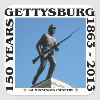 1st Minnesota Infantry - 150th Gettysburg Square Sticker
