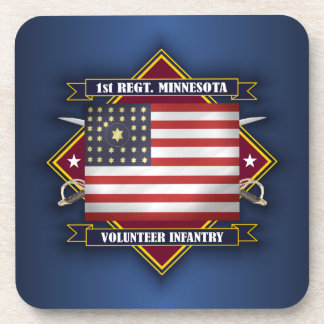 1st Minnesota Infantry Coaster