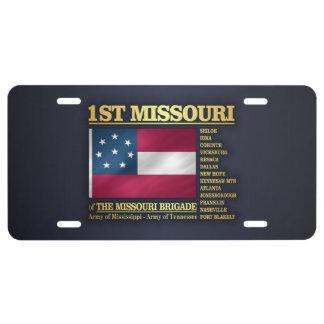 1st Missouri Infantry (BA2) License Plate
