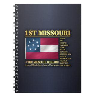 1st Missouri Infantry (BA2) Spiral Notebook