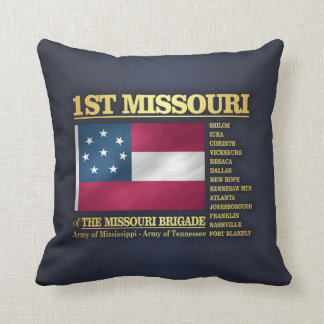 1st Missouri Infantry (BA2) Throw Pillow