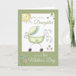 1st Mother's Day - Special Daughter - Baby Carriag Card