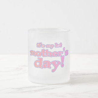 1st Mother's Day T-shirts and Gifts Frosted Glass Coffee Mug