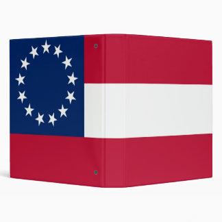 """1st Nation Confederate Flag 1"""" Binder"""