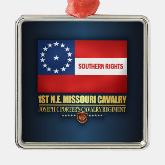 1st NE Missouri Cavalry Metal Ornament