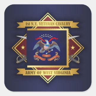 1st New York Veteran Cavalry Square Sticker