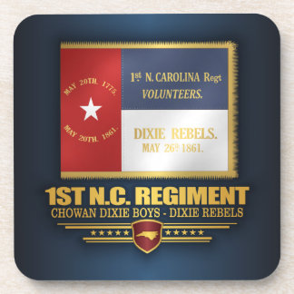 1st North Carolina Volunteers Drink Coaster