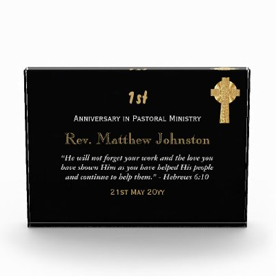 1st Ordination Anniversary Personalized Scripture Acrylic Award