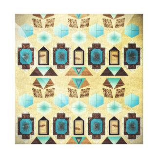 1st Pattern; Hexagon Shapes Canvas Print