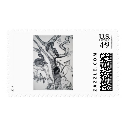 1st PEN AND INK (Quill) Postage Stamp