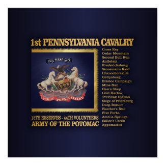 1st Pennsylvania Cavalry (BH) Poster
