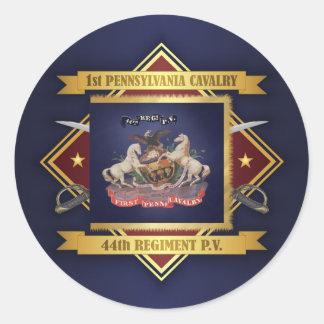 1st Pennsylvania Cavalry Classic Round Sticker