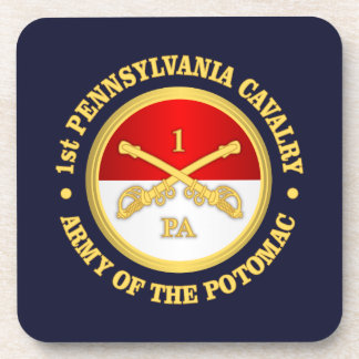 1st Pennsylvania Cavalry Drink Coaster