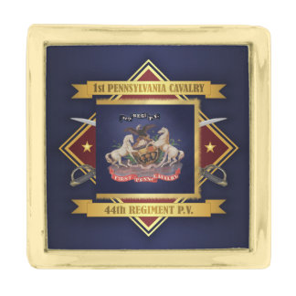 1st Pennsylvania Cavalry Gold Finish Lapel Pin
