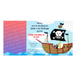 1st pirate birthday boy party invitations customized photo card