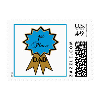 1st Place Dad Ribbon Postage