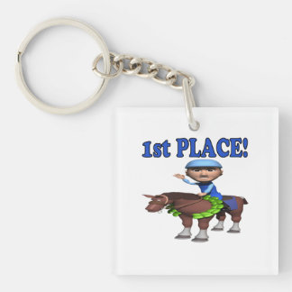 1st Place Double-Sided Square Acrylic Keychain