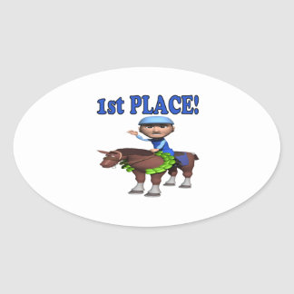 1st Place Oval Sticker