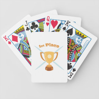 1st Place Bicycle Playing Cards