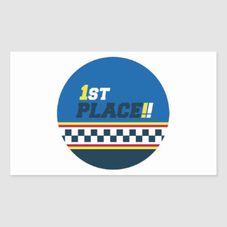1st Place - Pole Position Rectangular Sticker